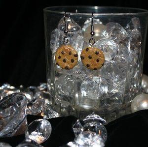 Jewelry - Handmade chocolate chip cookie earrings